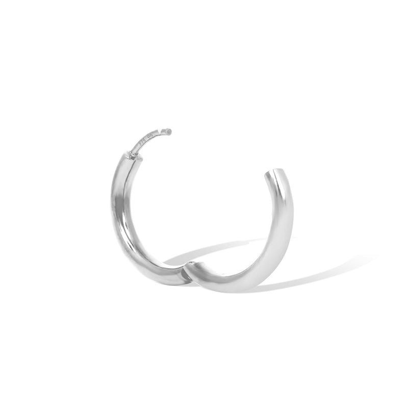 Simple 15mm sterling silver mini hoop