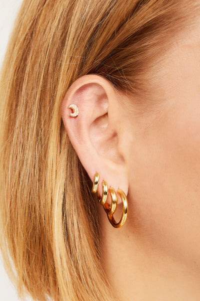 Simple 10mm gold vermeil mini hoop