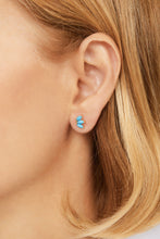 Load image into Gallery viewer, Marquise Fan turquoise gold vermeil stud