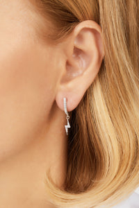 Hanging bolt sterling silver earring