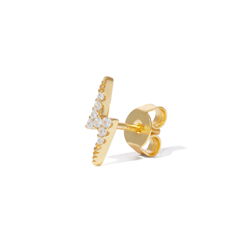 Bolt gold vermeil stud