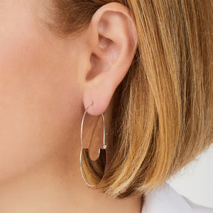 Daphne sterling silver hoops