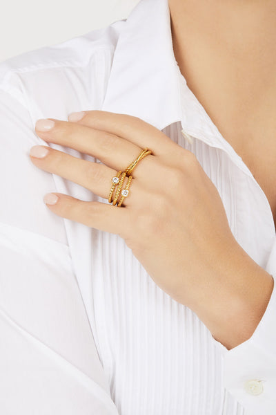 Speira gold vermeil ring