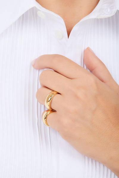 Small eternity gold vermeil ring