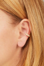 Load image into Gallery viewer, Two rows opal gold vermeil large ear cuff