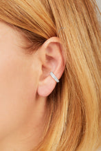 Load image into Gallery viewer, Two rows sterling silver medium ear cuff