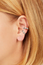 Load image into Gallery viewer, Simple sterling silver large ear cuff
