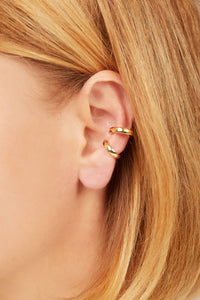 Simple gold vermeil medium ear cuff