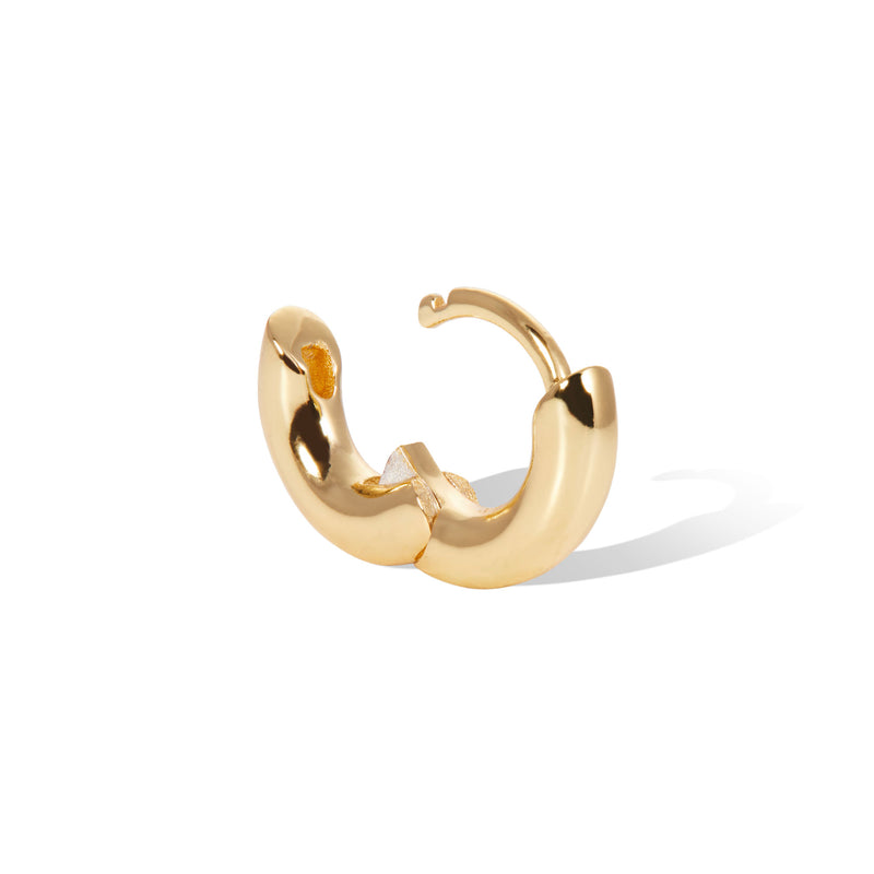6,5 mm simple gold vermeil huggie