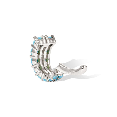 Gala turquoise sterling silver ear cuff