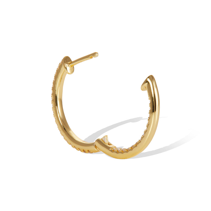 Inside-Out 18 mm gold vermeil hoop
