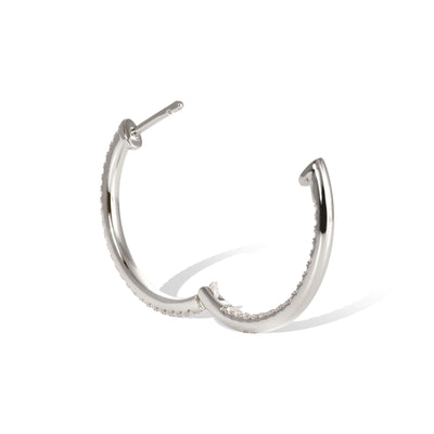 Inside-Out 18 mm opal sterling silver hoop