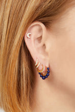 Load image into Gallery viewer, Tiara lapis gold vermeil earring