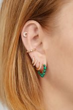 Load image into Gallery viewer, Tiara malachite gold vermeil earring