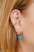 Load image into Gallery viewer, Maya turquoise gold vermeil earring