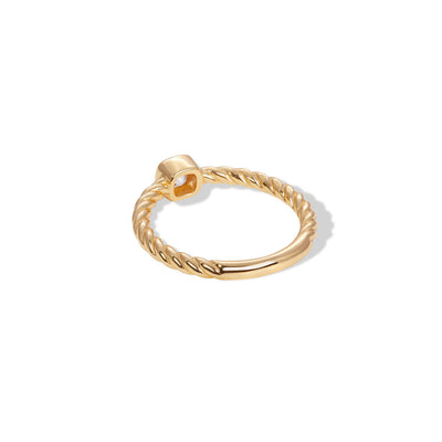 Speira square cz gold vermeil ring