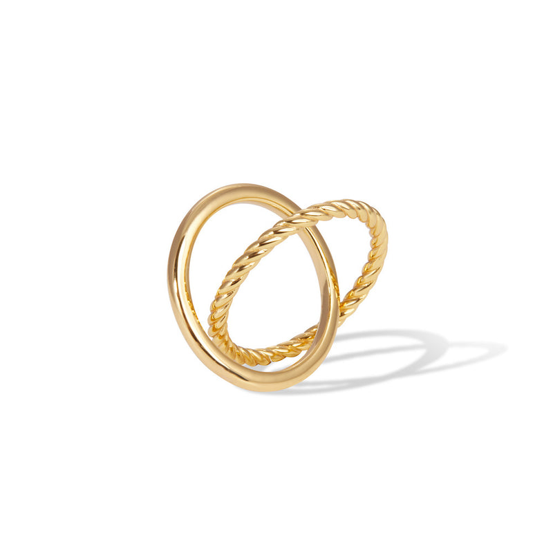Speira crisscross gold vermeil ring