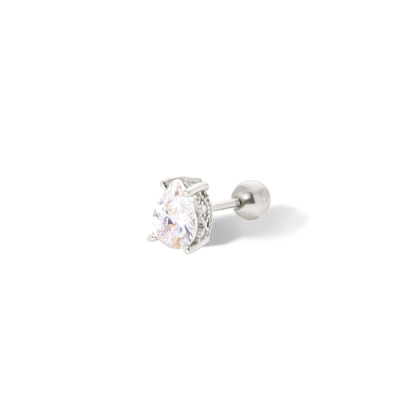 Mini Celeste sterling silver stud earring (ball screw)