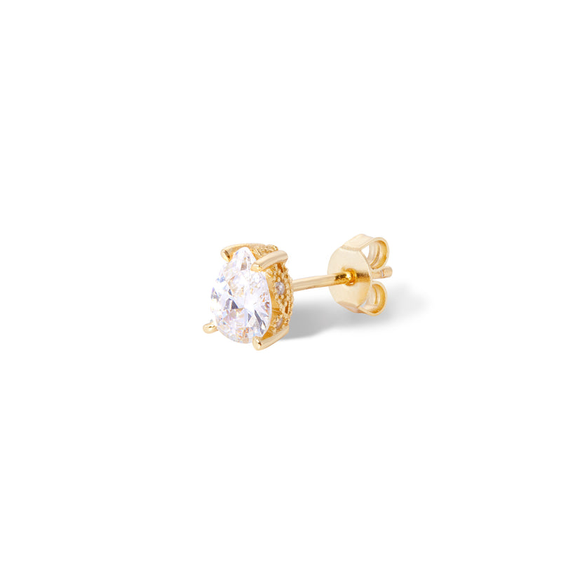 Mini Celeste gold vermeil stud earring