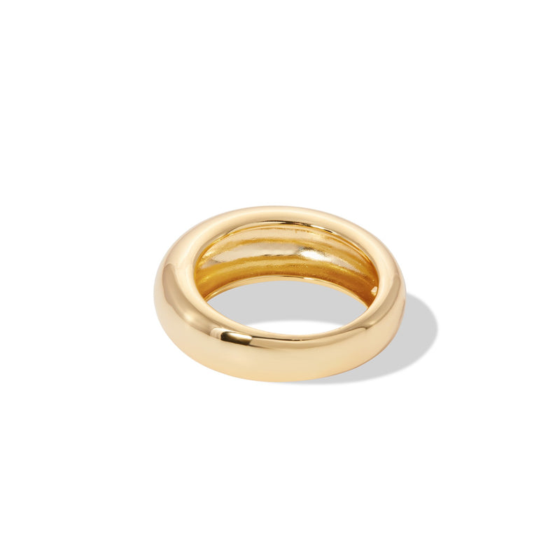 Coco dome gold vermeil ring