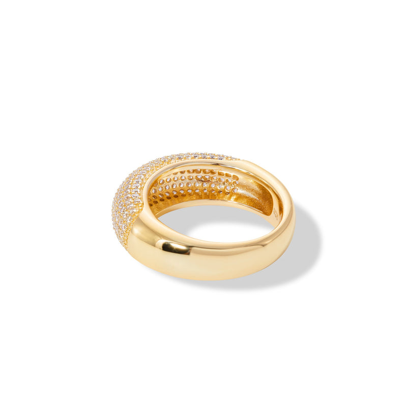 Coco pave dome gold vermeil ring