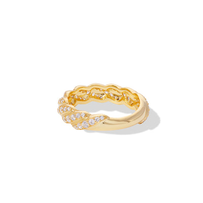 Speira small band pave ring