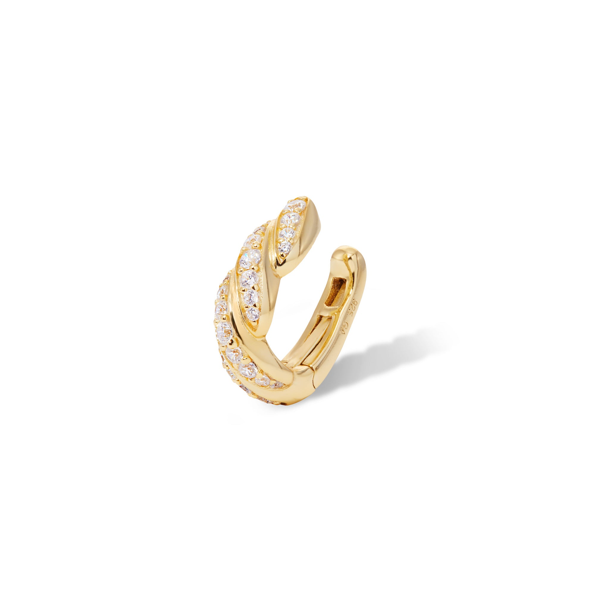 Image of Speira band pave gold vermeil ear cuff