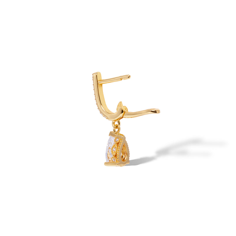 Hanging mini Celeste gold vermeil earring