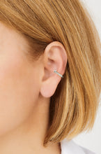 Load image into Gallery viewer, Speira square cz sterling silver ear cuff