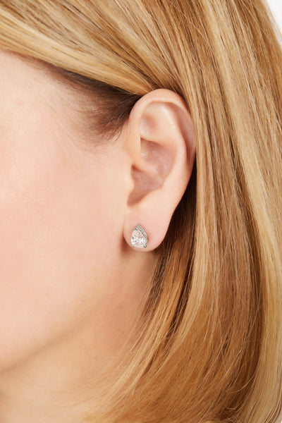 Large Celeste sterling silver stud earring (ball screw)