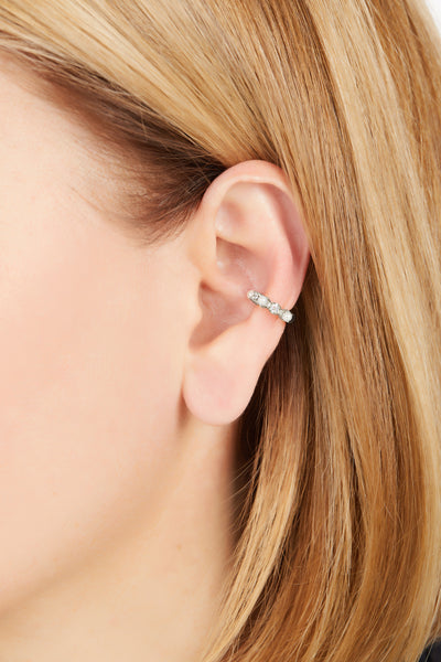 Siena sterling silver ear cuff
