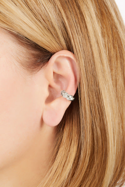 Speira band sterling silver ear cuff