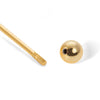 Bolt gold vermeil stud (ball screw)