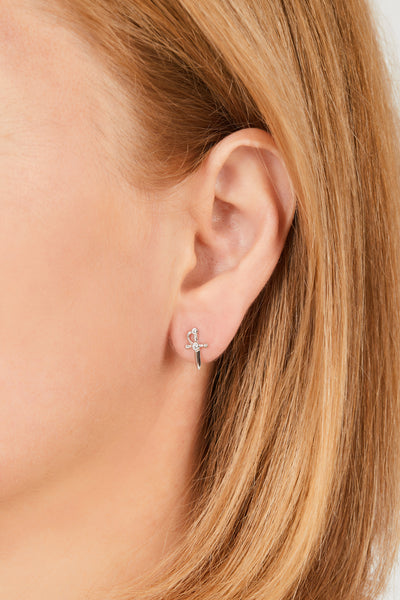 Freya sterling silver stud earring (ball screw)