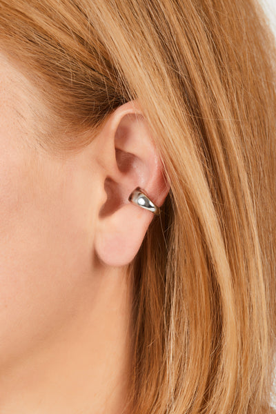 Eternity sterling silver ear cuff