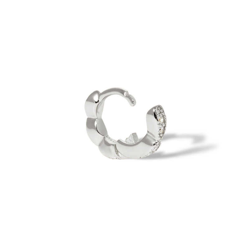 Tasha 6.5 mm sterling silver huggie