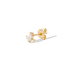 Mini Lotus gold vermeil stud earring