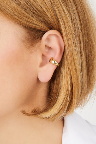 Eternity gold vermeil ear cuff