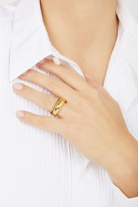 Sabrina gold vermeil ring