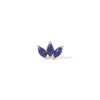 Marquise Fan lapis sterling silver stud