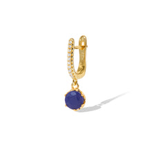 Load image into Gallery viewer, Halo lapis gold vermeil earring