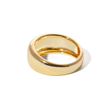 Load image into Gallery viewer, Large Eternity gold vermeil ring