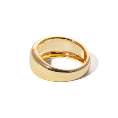 Large Eternity gold vermeil ring