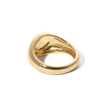 Load image into Gallery viewer, Simple gold vermeil signet ring