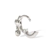 Load image into Gallery viewer, 6,5mm simple shaker sterling silver huggie