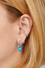 Load image into Gallery viewer, Maya turquoise sterling silver earring