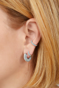 Ada sterling silver turquoise earring
