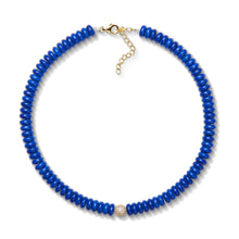 Load image into Gallery viewer, 8,3mm lapis bead necklace