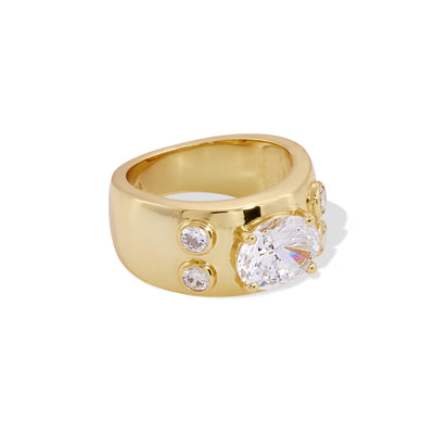 Karla gold vermeil ring