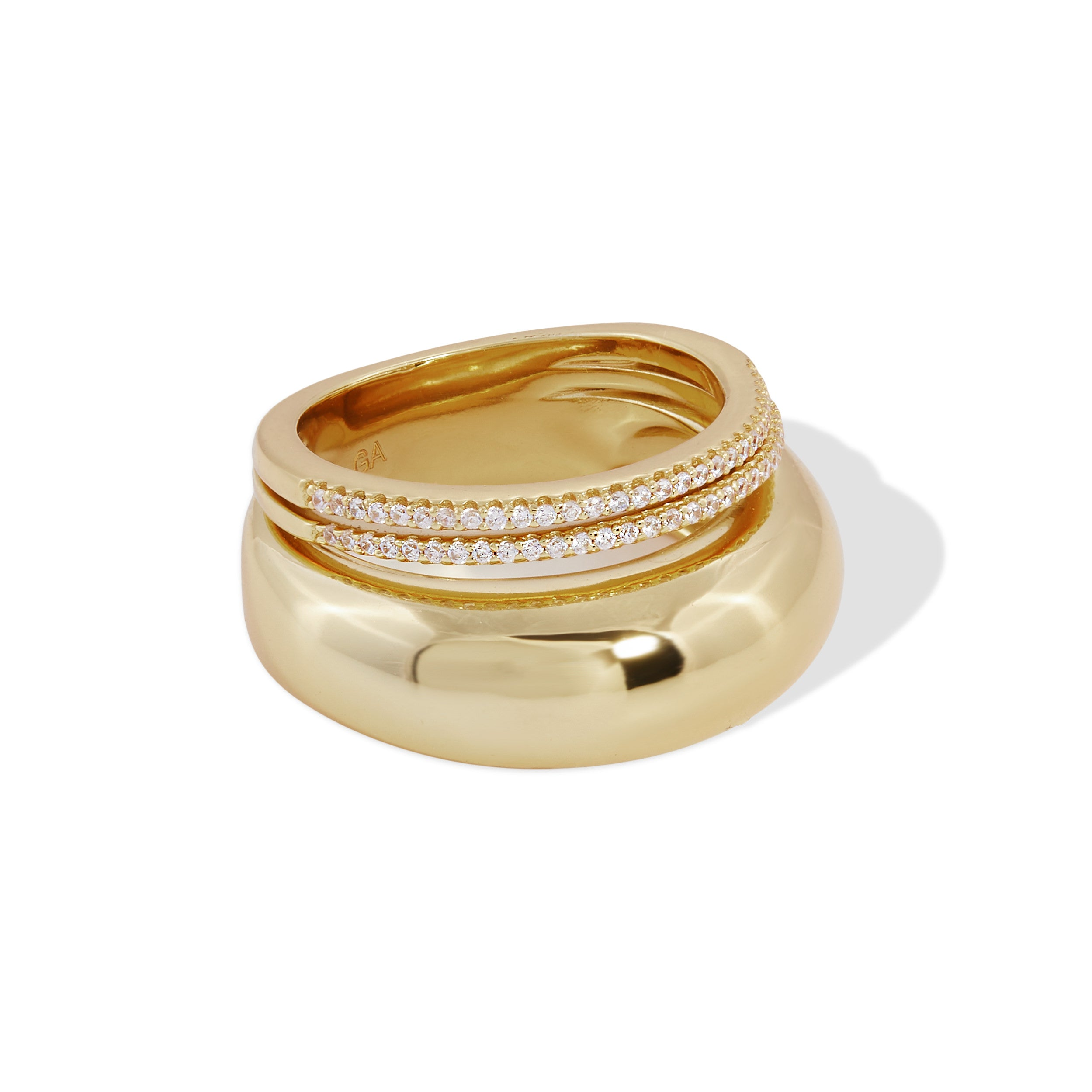 Image of Sabrina gold vermeil ring